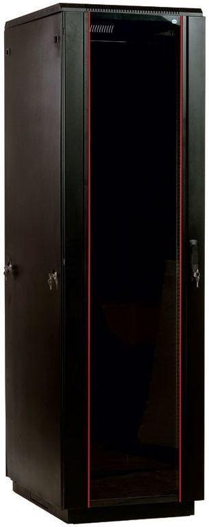 Шкаф серверный ЦМО (ШТК-М-42.8.10-1ААА-9005) 42U 800x1000мм пер.дв.стекл задн.дв.спл.стал.лист 2 бок