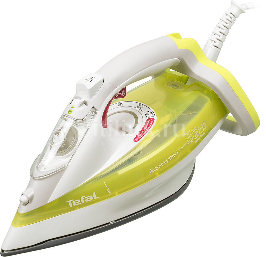 Утюг TEFAL FV5510E0,  2500Вт,  зеленый/ белый [1830005885]