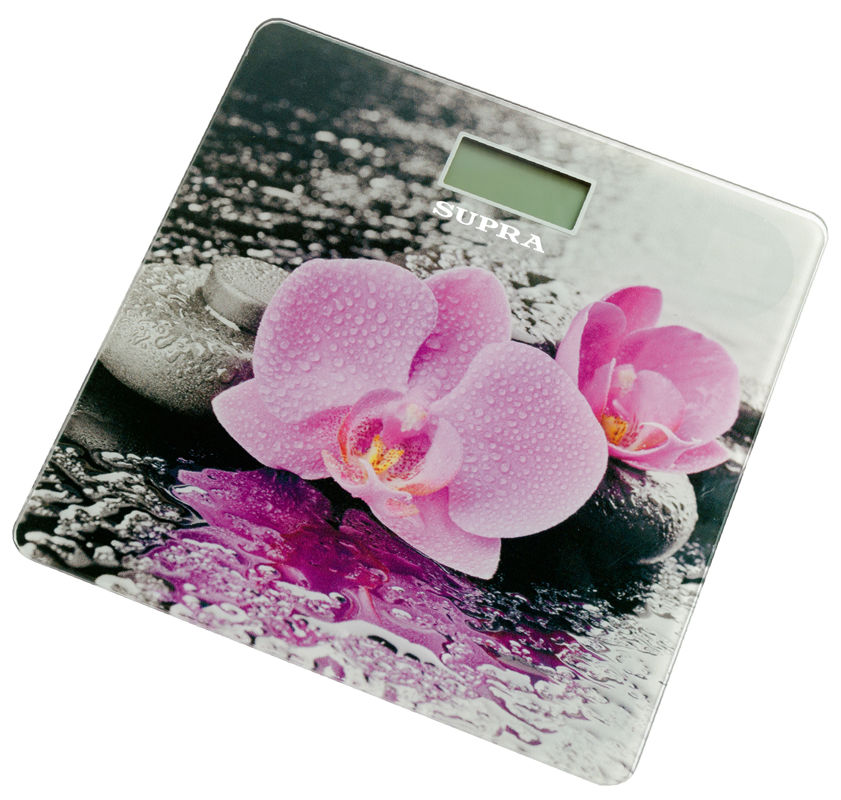 Весы SUPRA BSS-2001, до 180кг, цвет: розовый/рисунок [10592]