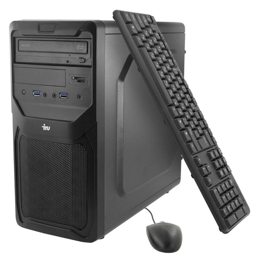 Компьютер  IRU Home 311,  Intel  Core i3  6100,  DDR4 4Гб, 500Гб,  nVIDIA GeForce GT720 - 2048 Мб,  DVD-RW,  Windows 10 Home,  черный [388428]