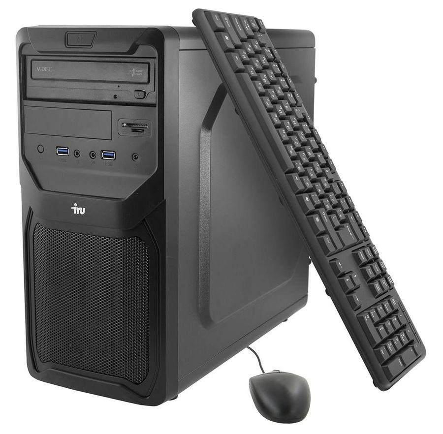 Компьютер  IRU Home 511,  Intel  Core i5  6400,  DDR4 4Гб, 1Тб,  nVIDIA GeForce GT730 - 2048 Мб,  DVD-RW,  Windows 10 Home,  черный [388432]
