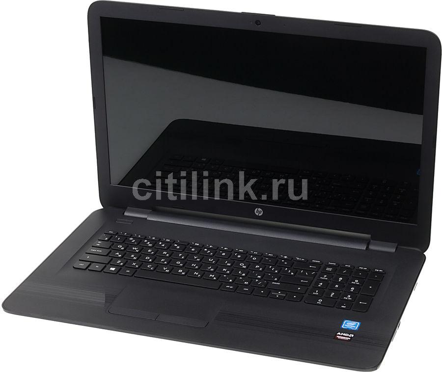 """Ноутбук HP 17-x008ur, 17.3"""", Intel  Pentium  N3710 1.6ГГц, 4Гб, 500Гб, AMD Radeon  R5 M430 - 2048 Мб, DVD-RW, Free DOS, X5C43EA,  черный"""