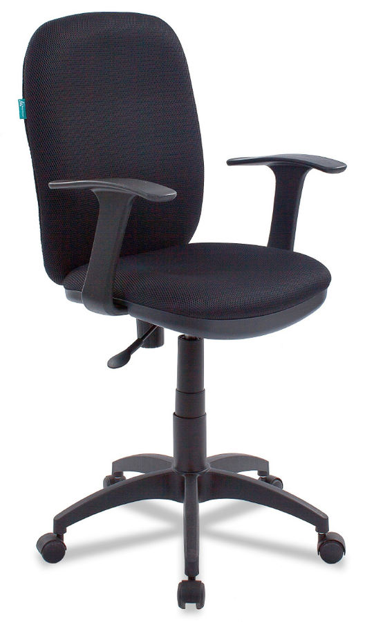 Кресло БЮРОКРАТ CH-555, на колесиках, ткань, черный [ch-555/tw-11]