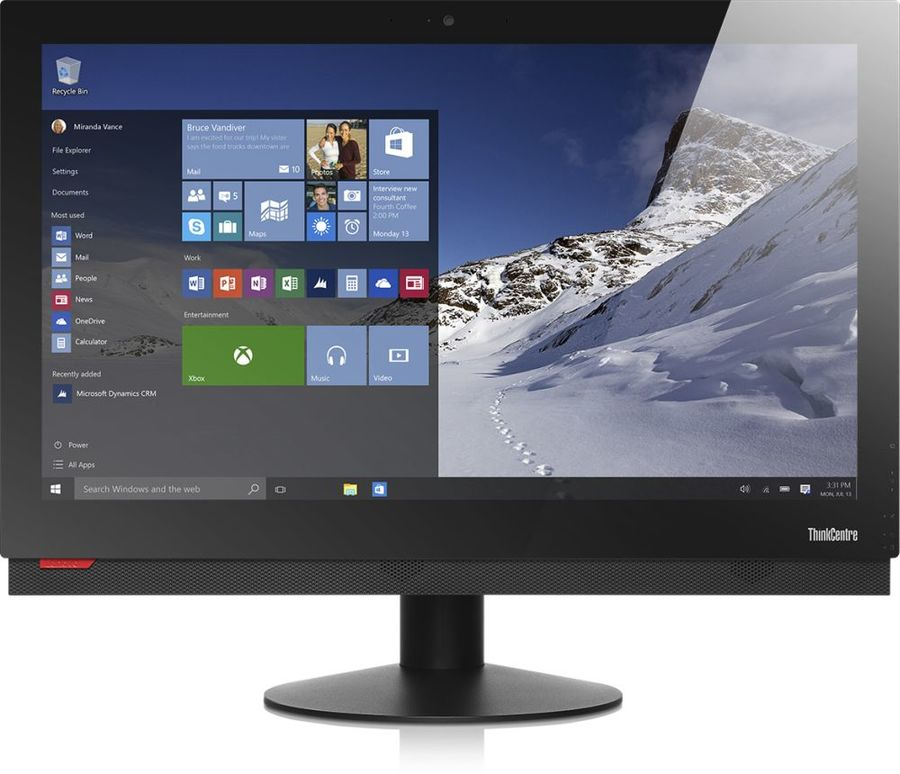 Моноблок LENOVO M900z, Intel Core i7 6700, 8Гб, 500Гб, Intel HD Graphics 530, DVD-RW, Windows 10 Professional, черный [10f5s0vw00]