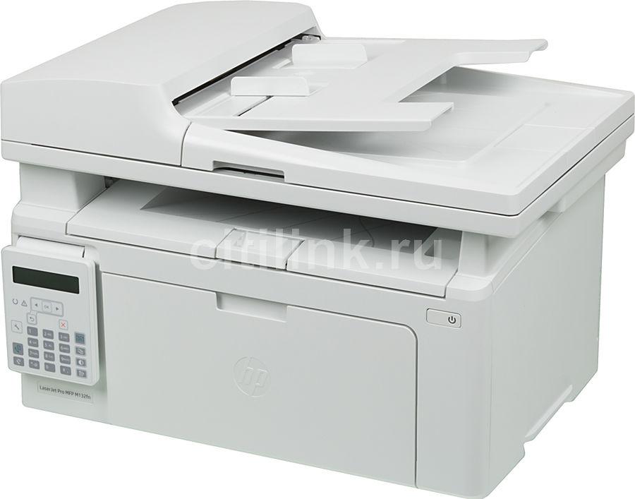 МФУ лазерный HP LaserJet Pro MFP M132fn RU,  A4,  лазерный,  белый [g3q63a]