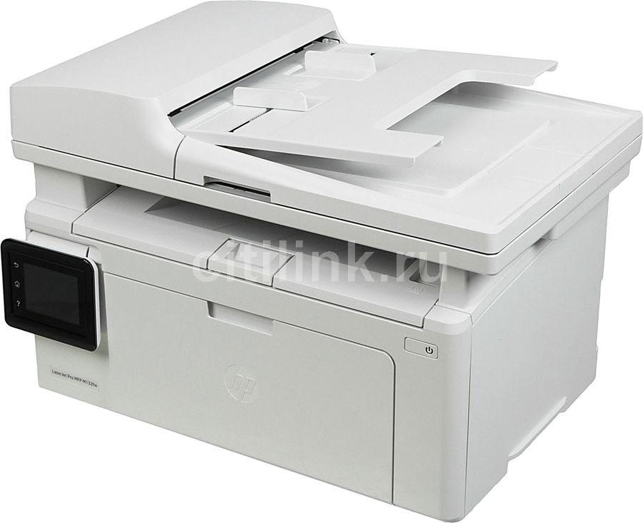 МФУ лазерный HP LaserJet Pro MFP M132fw RU,  A4,  лазерный,  белый [g3q65a]