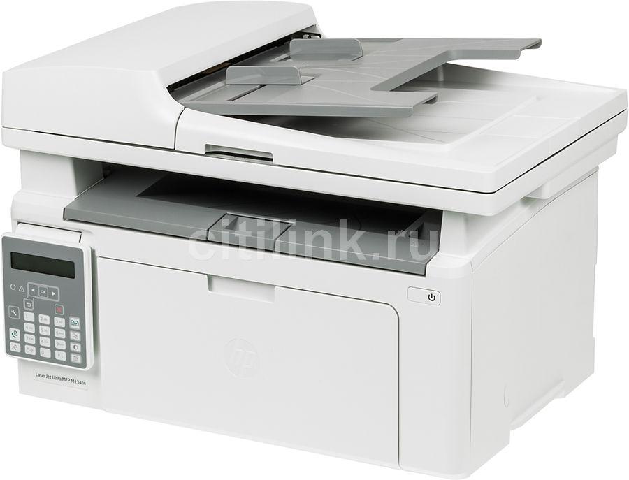 МФУ лазерный HP LaserJet Ultra MFP M134fn RU,  + 3 картриджа,  A4,  лазерный,  белый [g3q67a]