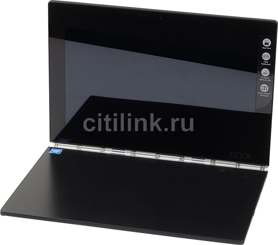 Планшет LENOVO Yoga Book YB1-X91F, 4GB, 64GB, Windows 10 Professional 64 черный [za150049ru] планшеты lenovo планшет lenovo thinkpad tablet 10 4gb 64gb windows 10 professional 64 черный