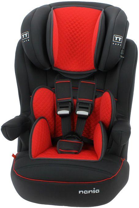 Автокресло детское NANIA Imax SP LTD (quilt carmin), 1/2/3, черный/красный [925233]