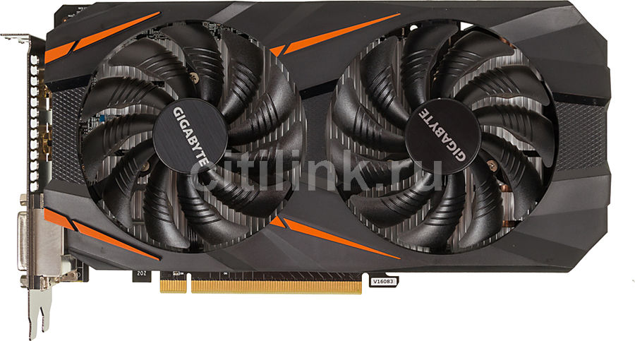Видеокарта GIGABYTE nVidia GeForce GTX 1060 , GV-N1060WF2OC-3GD, 3Гб, GDDR5, OC, Ret видеокарта 6144mb msi geforce gtx 1060 gaming x 6g pci e 192bit gddr5 dvi hdmi dp hdcp retail