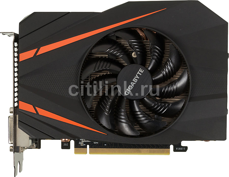 Видеокарта GIGABYTE GeForce GTX 1060,  GV-N1060IXOC-6GD,  6Гб, GDDR5, OC,  Ret