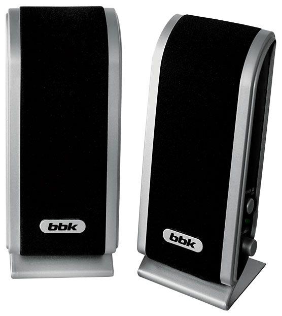 Колонки BBK CA-192S,  черный,  серебристый