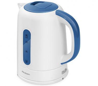 Чайник электрический ROLSEN RK-2723P, 2200Вт, белый и синий