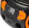 Аудиомагнитола BBK BS15BT,  черный и оранжевый вид 7