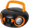 Аудиомагнитола BBK BS15BT,  черный и оранжевый вид 1