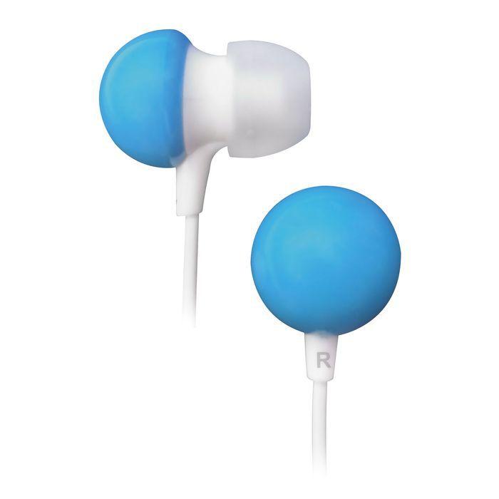 Наушники BBK EP-1140S, вкладыши,  белый/голубой, проводные