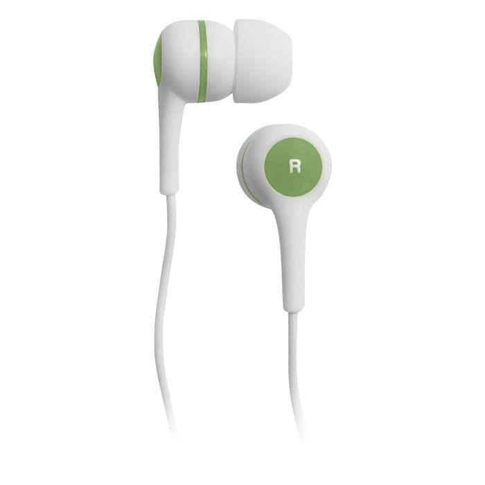 Наушники BBK EP-1260S, вкладыши,  белый/зеленый, проводные
