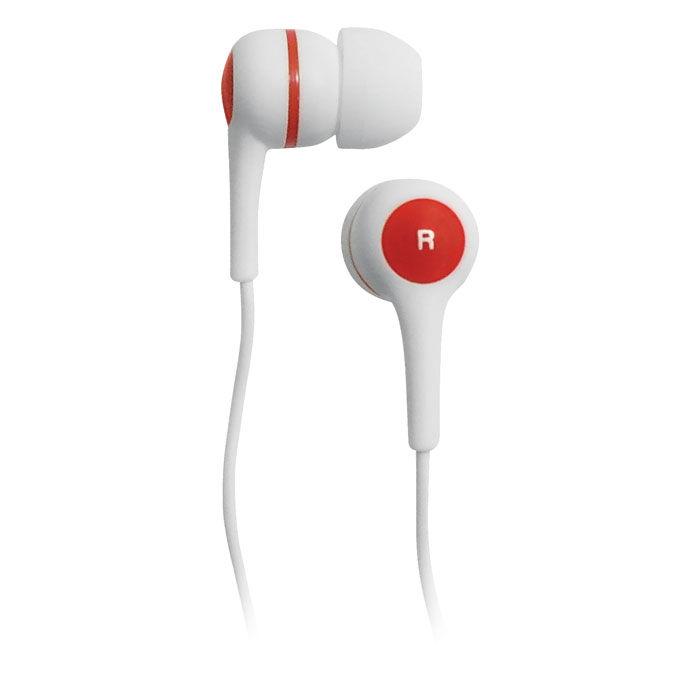 Наушники BBK EP-1260S, вкладыши,  белый/красный, проводные