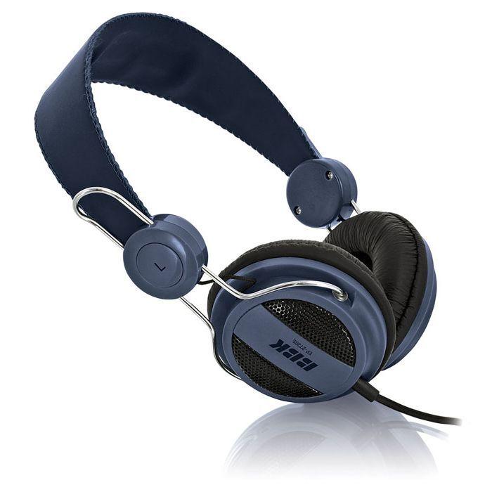 Наушники BBK EP-2720S, накладные,  синий, проводные