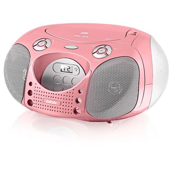 Аудиомагнитола BBK BX110U,  розовый