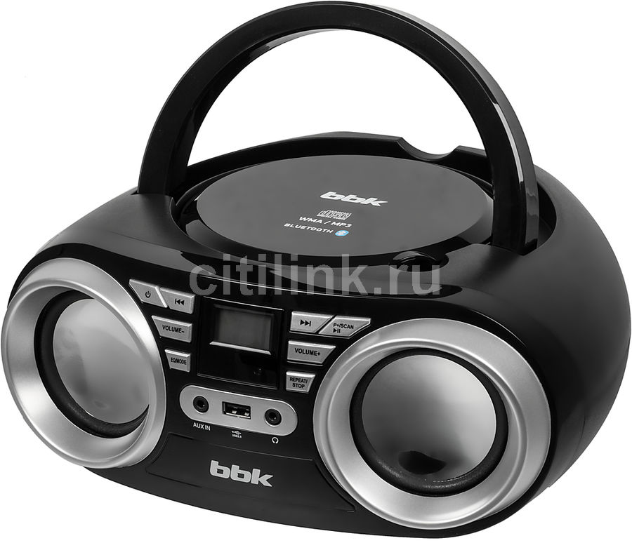 Аудиомагнитола BBK BX160BT,  черный