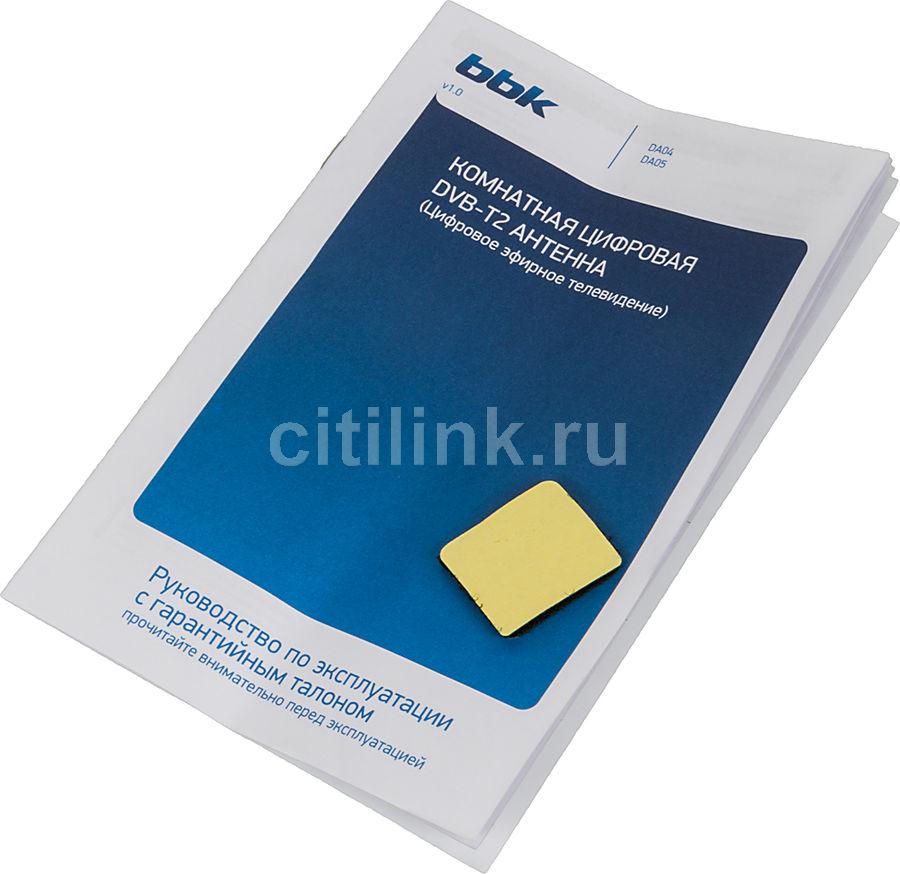 Телевизионная антенна BBK DA02 Комнатная цифровая DVB-T антенна черный