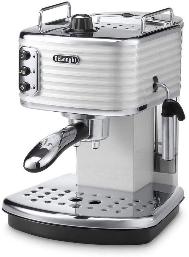 Кофеварка DELONGHI ECZ351.W,  эспрессо,  белый [0132103101]