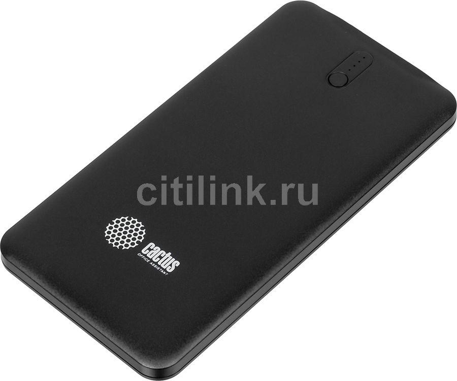 Внешний аккумулятор (Power Bank) CACTUS CS-PBAS282,  5000мAч,  черный/темно-серый