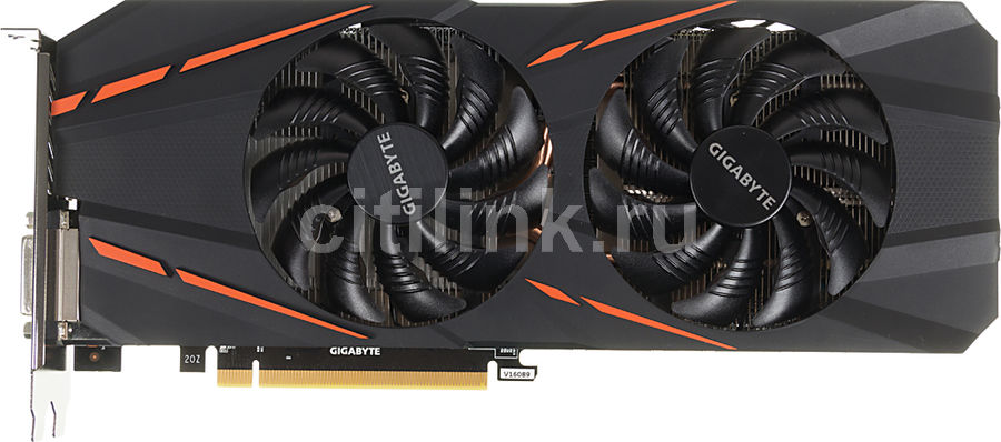 Видеокарта GIGABYTE GeForce GTX 1060, GV-N1060G1 GAMING-3GD, 3Гб, GDDR5, OC, Ret видеокарта gigabyte geforce gtx 1050ti gv n105td5 4gd 4гб gddr5 oc ret