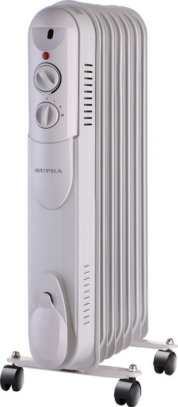 Масляный радиатор SUPRA ORS-07-S1, 1500Вт, белый