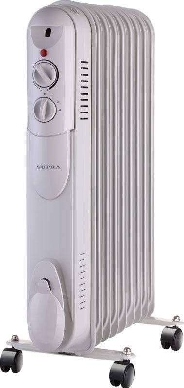 Масляный радиатор SUPRA ORS-09-S1, 2000Вт, белый
