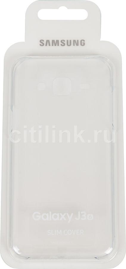 Чехол (клип-кейс) SAMSUNG Slim Cover, для Samsung Galaxy J3 (2016), прозрачный [ef-aj320ctegru]