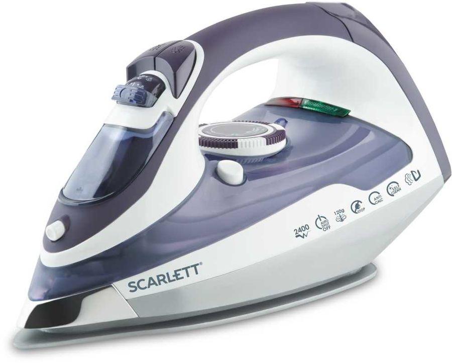 Утюг SCARLETT SC-1337S,  2400Вт,  белый/ фиолетовый