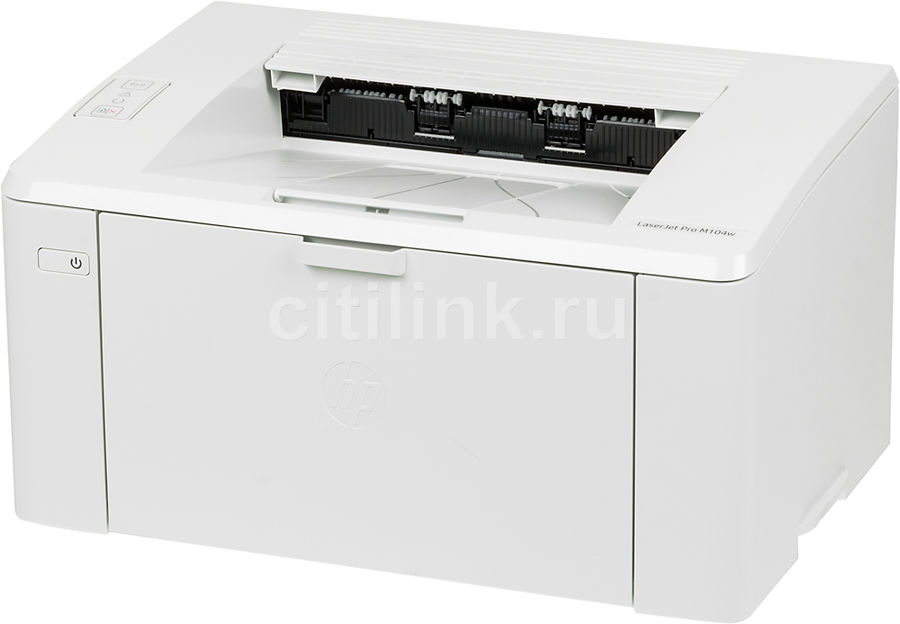 Принтер лазерный HP LaserJet Pro M104w RU лазерный, цвет:  белый [g3q37a]