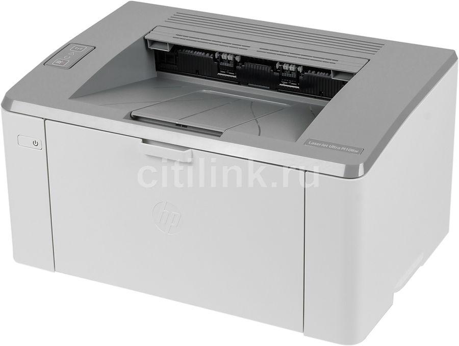 Принтер HP LaserJet Ultra M106w + 3 картриджа,  лазерный, цвет:  белый [g3q39a]