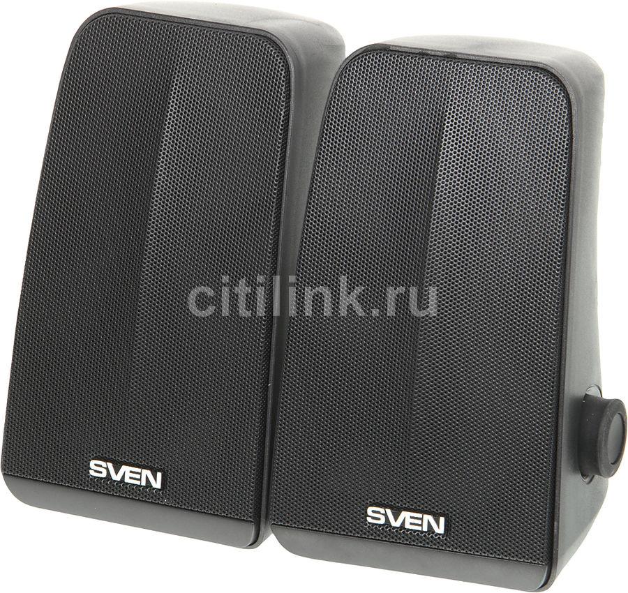 Колонки SVEN 380,  2.0,  черный