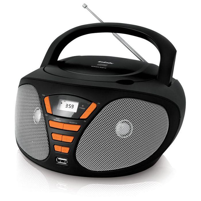 Аудиомагнитола BBK BX180U,  черный и оранжевый