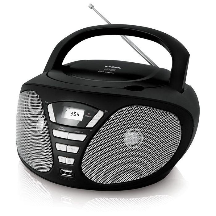 Аудиомагнитола BBK BX180U,  черный и серый