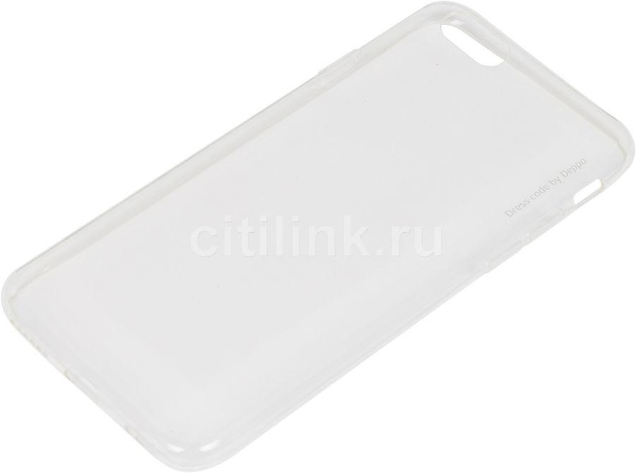 Чехол (клип-кейс) DEPPA Gel Case, для Apple iPhone 6/6S, прозрачный [85202]