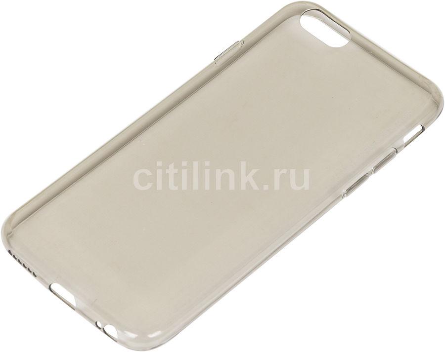 Чехол (клип-кейс) DEPPA Gel Case, для Apple iPhone 6/6S, черный [85203]