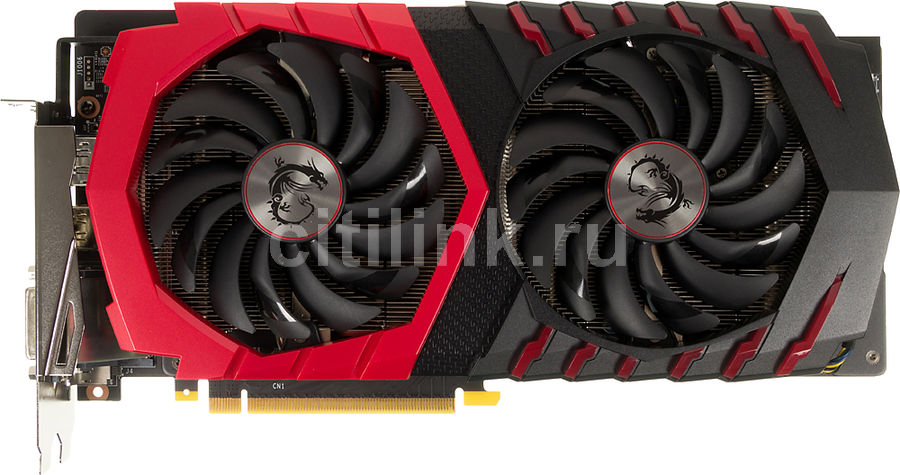 Видеокарта MSI GeForce GTX 1060, GTX 1060 GAMING X 3G, 3Гб, GDDR5, OC, Ret