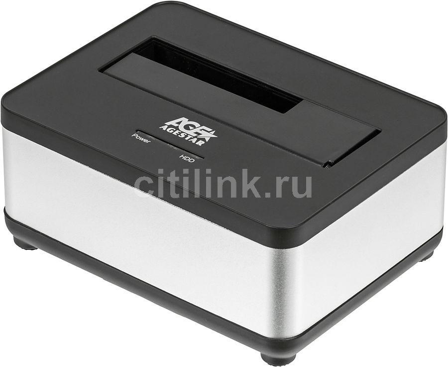 Док-станция для  HDD AGESTAR 3UBT7, серебристый