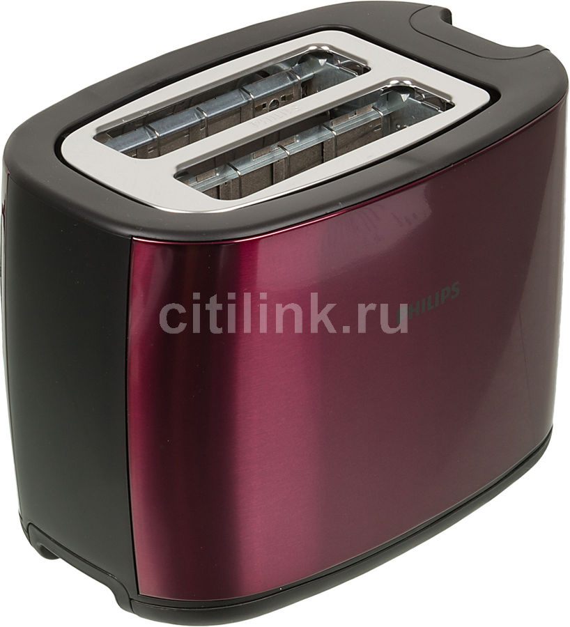 Тостер PHILIPS HD2628/00,  бордовый/черный