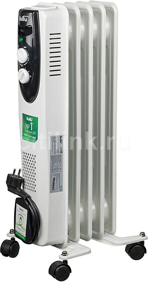 Масляный радиатор BALLU Classic BOH/CL-05WRN, 1000Вт, белый [нс-1050886]