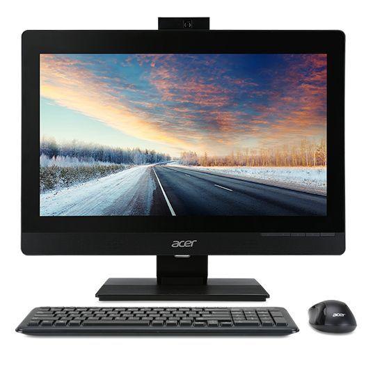 Моноблок ACER Veriton Z4640G, Intel Pentium G4400, 8Гб, 500Гб, Intel HD Graphics 510, DVD-RW, Windows 7 Professional, черный [dq.vp3er.013]