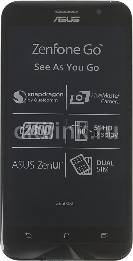 Смартфон Asus ZB500KL Zenfone Go 16Gb черный моноблок 3G 4G 2Sim 5