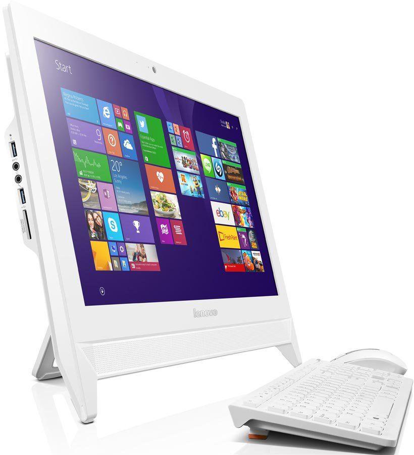 Моноблок LENOVO C20-00, Intel Celeron J3060, 4Гб, 500Гб, Intel HD Graphics 400, Windows 10, белый [f0bb00yhrk]