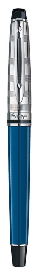 Набор Waterman Expert 3 DeLuxe (1978713) Obsession Blue CT ручка перьевая M в компл.:чехол для ручки