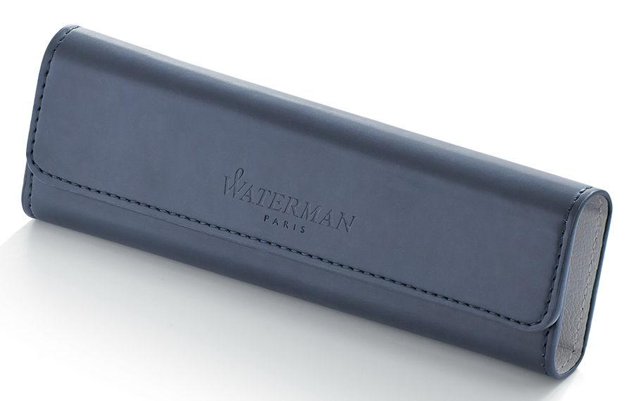 Набор Waterman Expert 3 Deluxe (1978716) Black CT ручка перьевая F синие чернила в компл.:чехол для