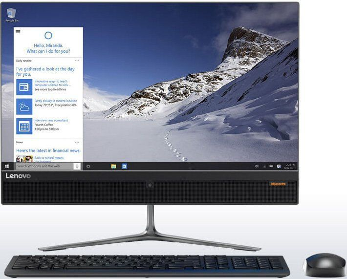 Моноблок LENOVO 510-23ISH, Intel Core i7 6700T, 8Гб, 1000Гб, 128Гб SSD,  nVIDIA GeForce 940M - 2048 Мб, DVD-RW, Windows 10, черный [f0cd0096rk]